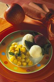 BILLES DE POMMES LA CANNELLE.Dessert