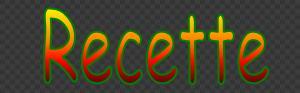 Bouton Recettes
